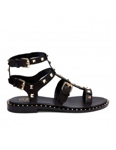 ASH - Ash Pacific Soft Brasil Black donna in pelle nera con borchie quadrate (S20-PACIFIC01)