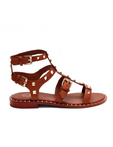 ASH - Ash Pacific Soft Brasil Cuoio donna in pelle marrone con borchie quadrate (S20-PACIFIC02)