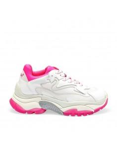 ASH - Ash Addict Nappa White Deep Pink donna in pelle bianca e particolari fucsia (S20-ADDICT10)